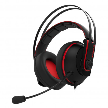 Micro Casque Asus Gaming Cerberus V2 Red PC/PS4