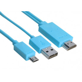 Adaptateur Micro USB vers HDMI 1.8M MHL Heden CABMICAHDM