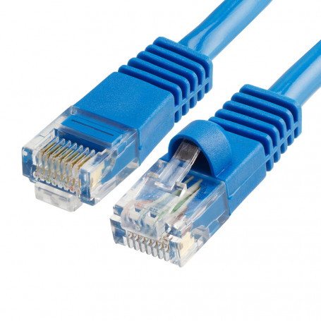 Cable Réseaux RJ45 1.5m Droit Cat6A S/FTP Blindé Bleu CRJ45_C6_01.5M_BLE - 1
