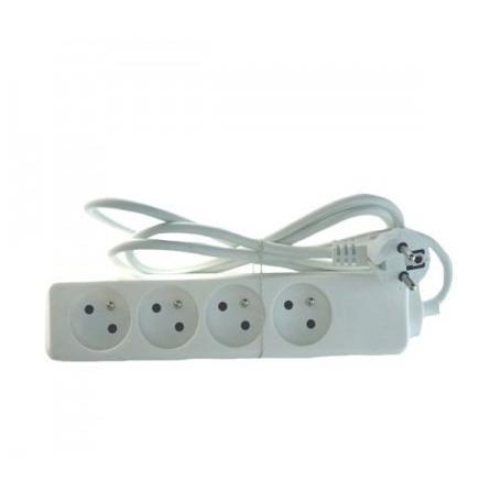 Bloc Multiprises 4 entrées Standard  1m Blanc M4P_SIMPLE_BL - 1