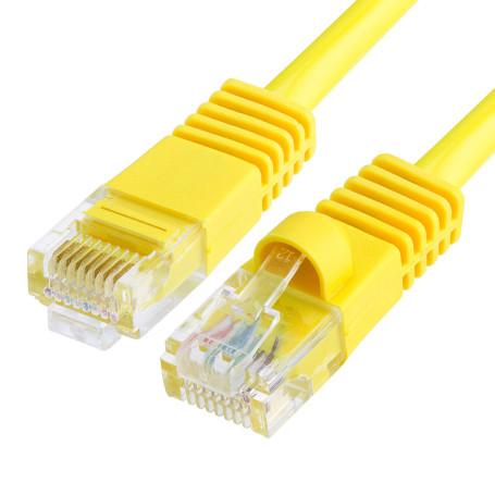 Cable Réseaux RJ45 50cm Droit Cat6A S/FTP Blindé Jaune CRJ45_C6_0.5M_JAUN - 1