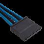 Kit de Câbles Corsair Pro Alimentation gainés Type 4 Bleu/Noir ALIMCOCP-8920228 - 13