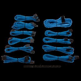Kit de Câbles Corsair Pro Alimentation gainés Bleu