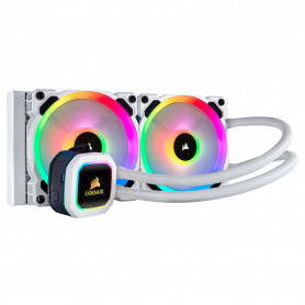 Kit WaterCooling Corsair Hydro H100i PLATINUM SE Blanc RGB 240mm