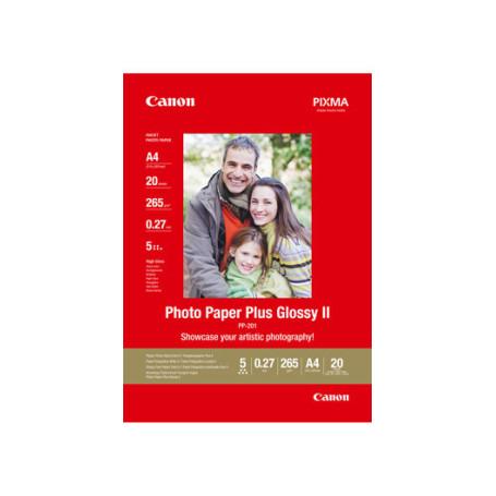 20 x Canon Photo Paper Plus Glossy II PP-201 130x180mm 260g/m2 RAMCAPP201-13X18 - 1