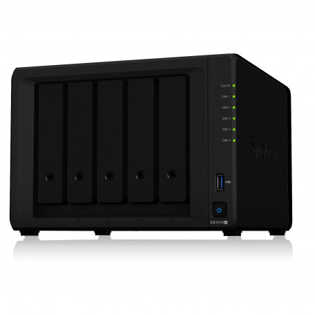 Serveur NAS Synology DiskStation DS1019+ 8Go 5 x DD Sata + 2 M.2 NASSYDS1019+ - 1