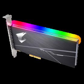 SSD 512Go AORUS RGB GP-ASACNE2512GTTDR PCIe NVMe 3480Mo/s 2100Mo/s