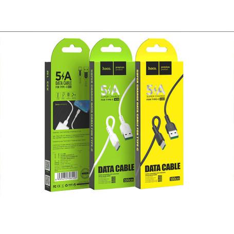 Cable USB vers Type-C 5A hoco. X33 1M Noir CAUSBHO-X33-C-BK - 1